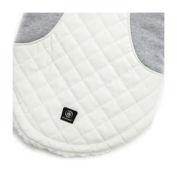 Silver Paw Silver Paw - Quilted Jacket Faux Leather White/Grey