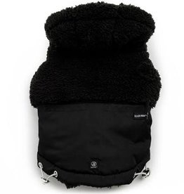 Silver Paw Silver Paw Quilted Hoodie Jacket Black