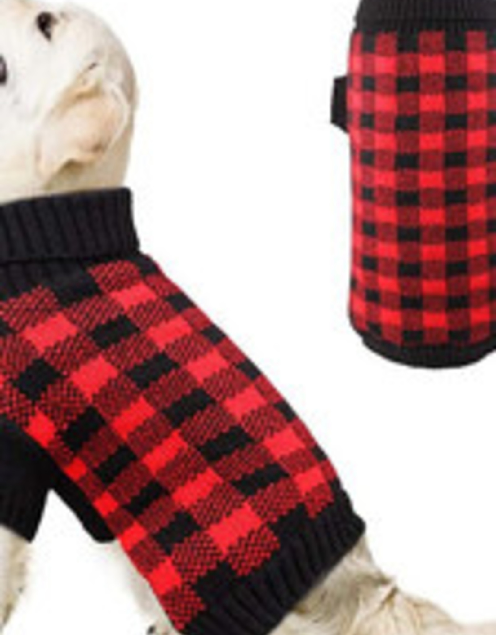 Chilly Dog Clothing Chilly Dog Plaid Wool Sweater