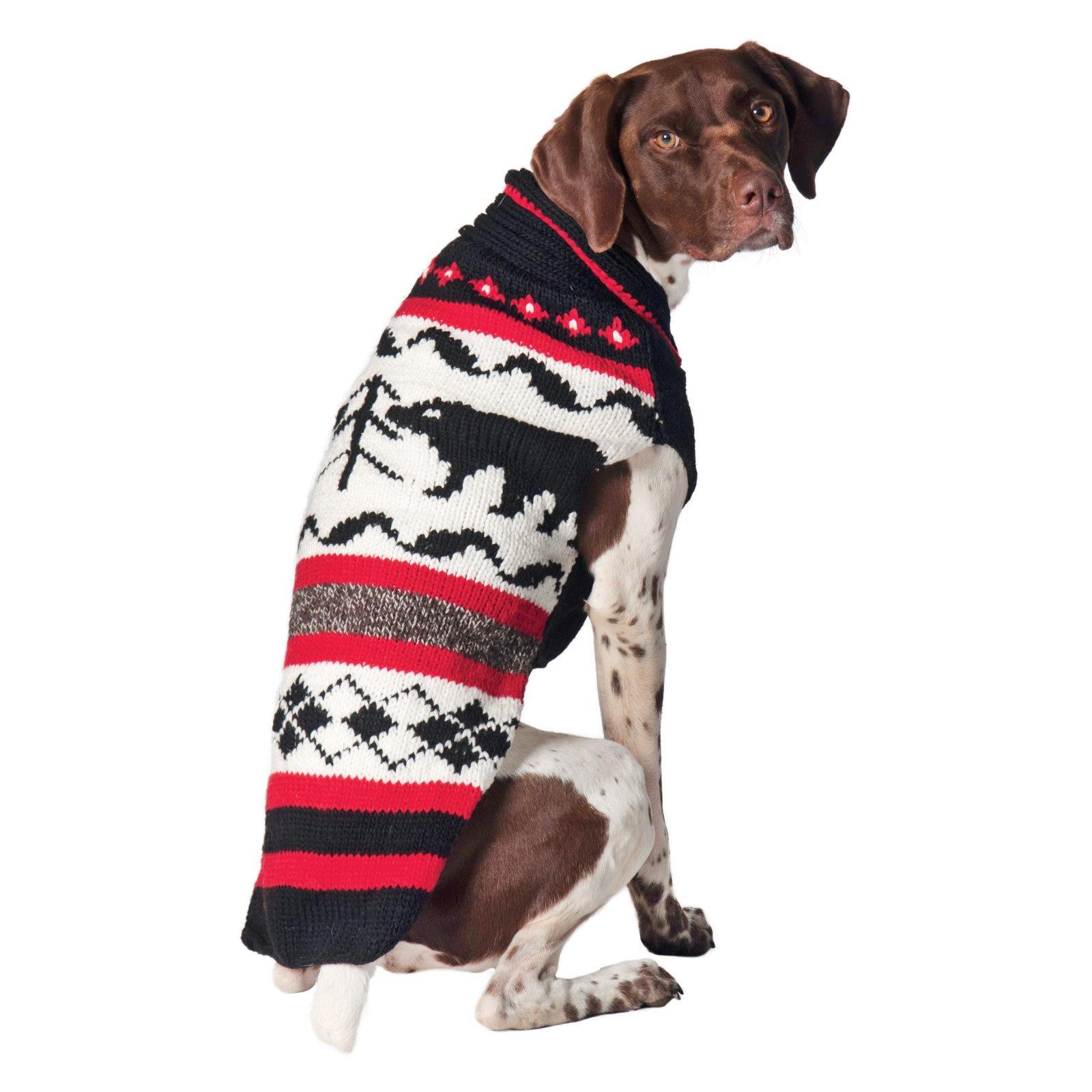 Chilly Dog Black Bear Wool Sweater
