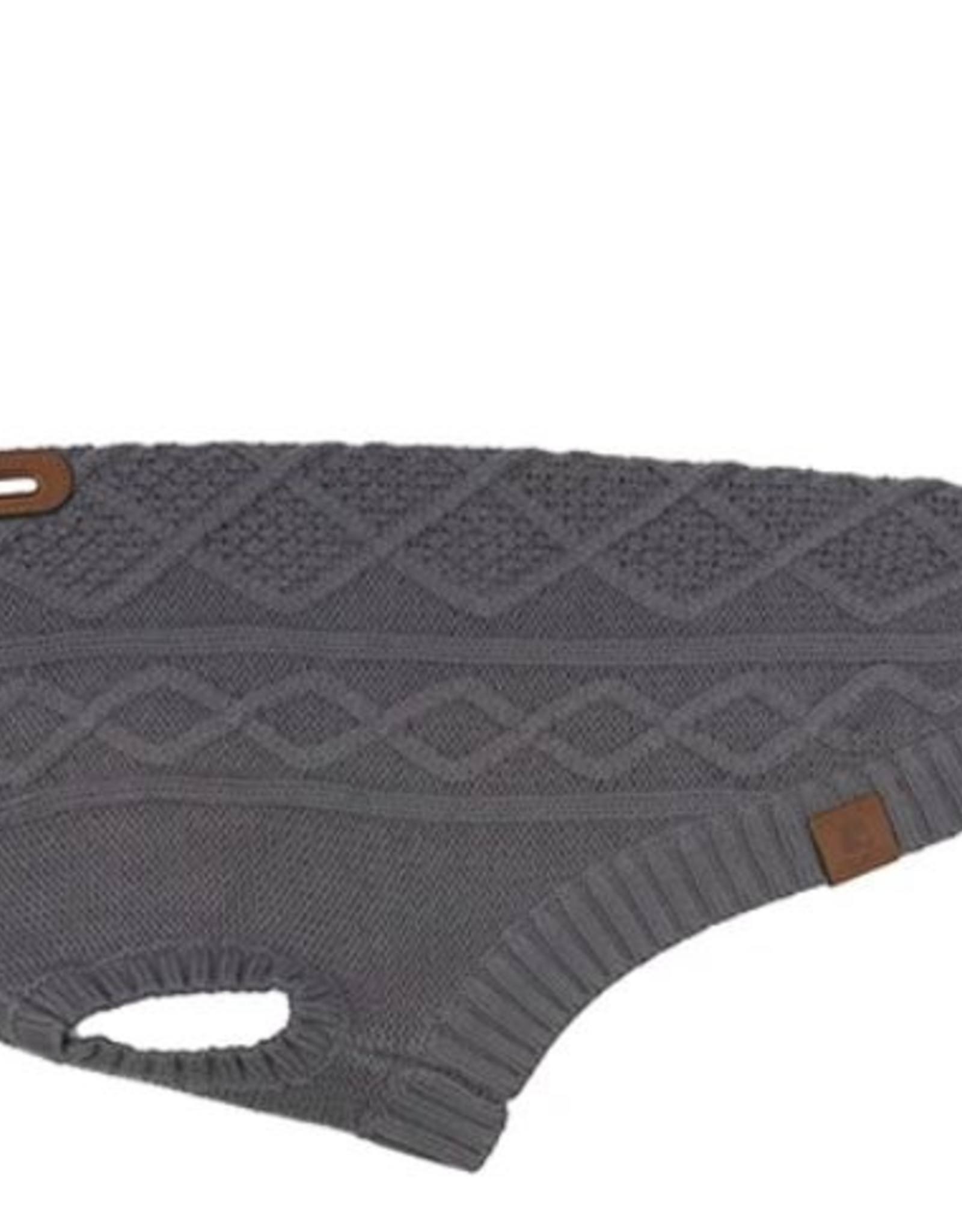 Cable Sweater Charcoal