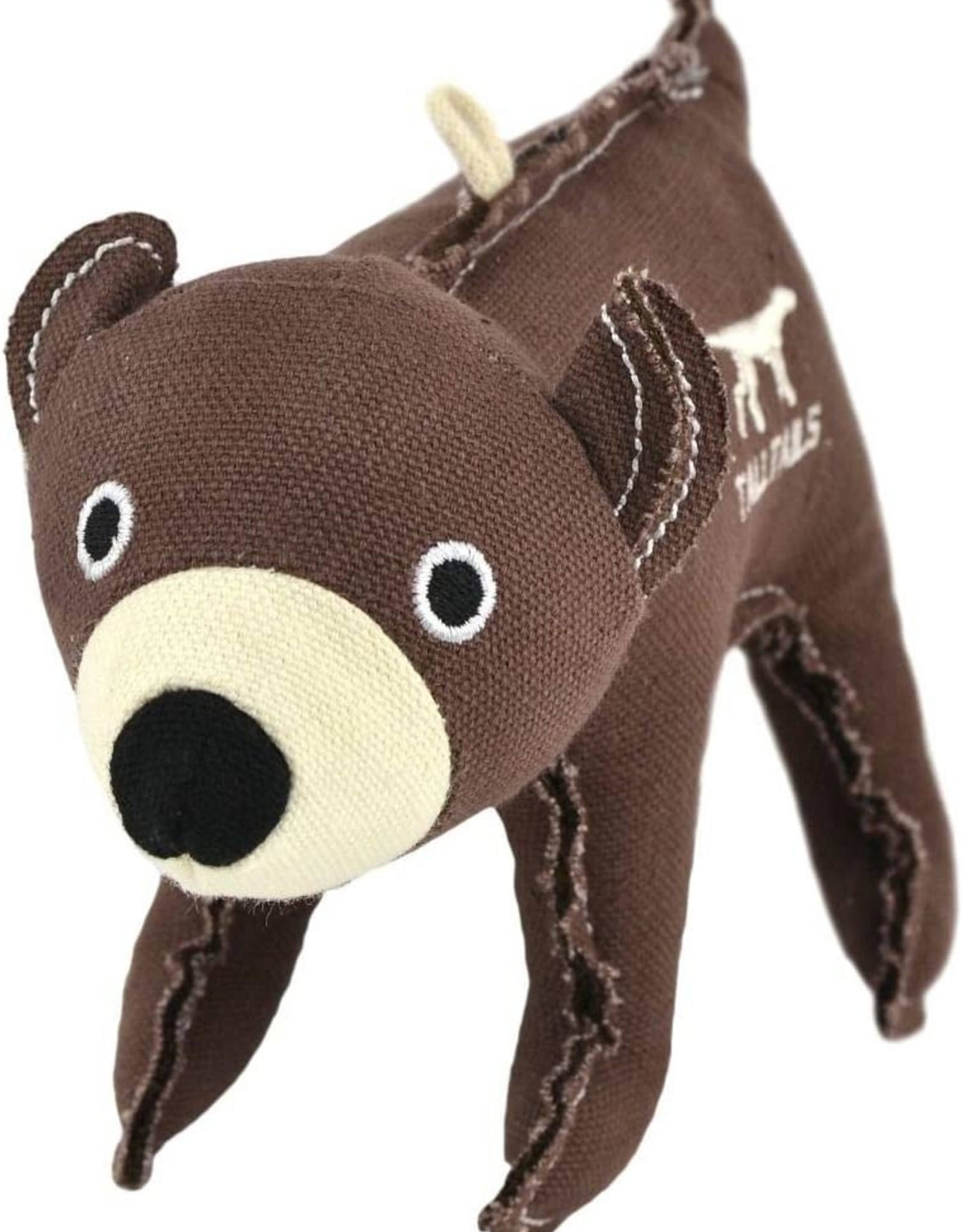 Tall Tails Tall Tails Canvas Bear with Squeaker