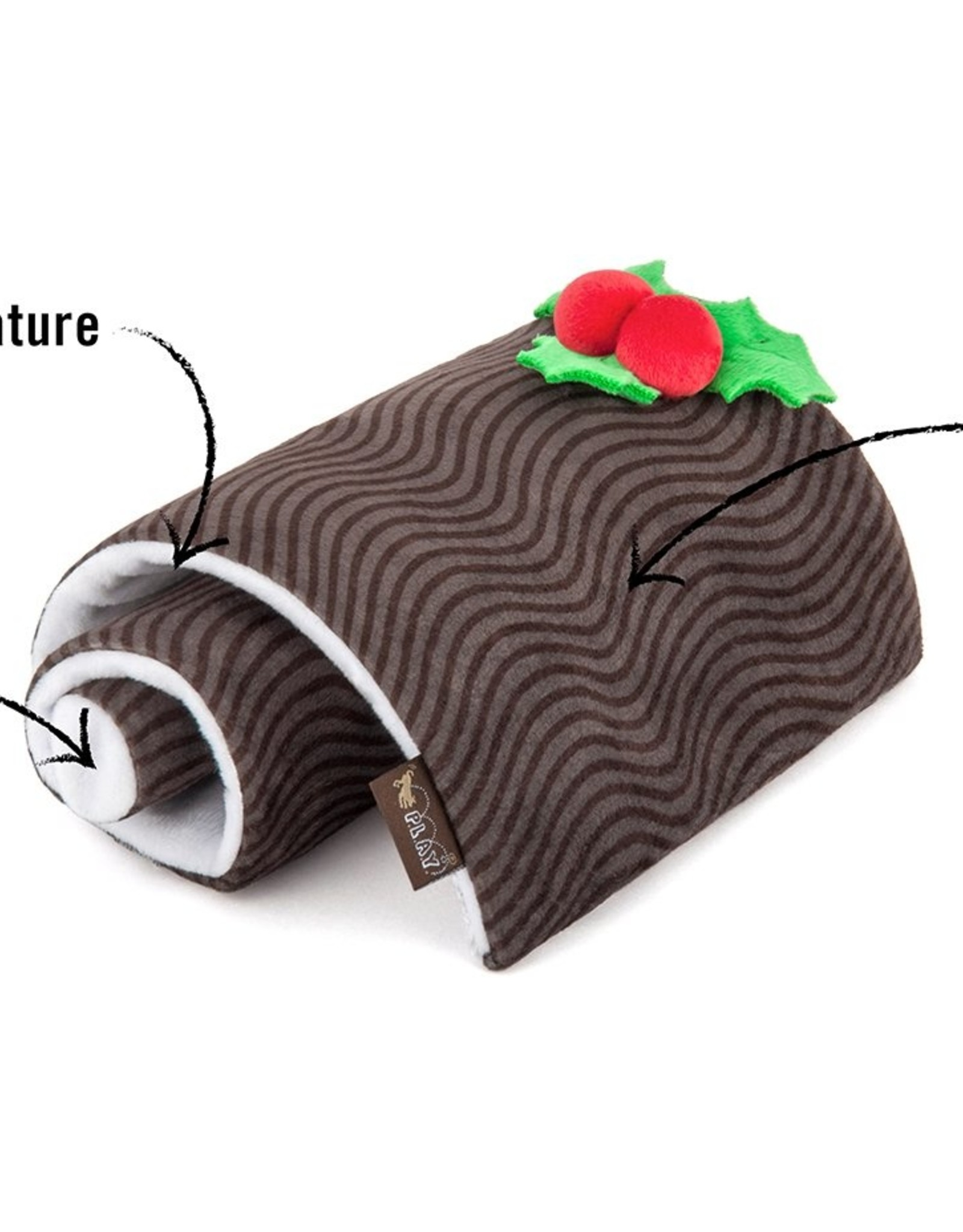 Tall Tails P.L.A.Y. Plush Holiday Yule Log