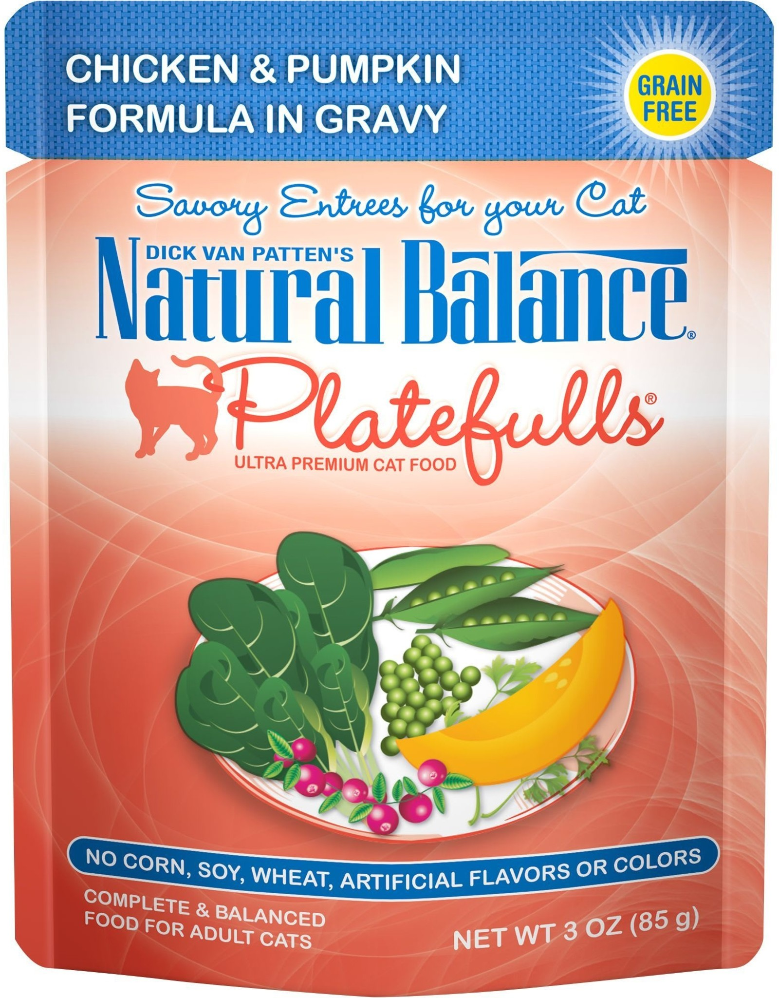 NATURAL BALANCE PET FOODS INC NB Platefulls / Indoor / Chicken & Pumpkin 3oz