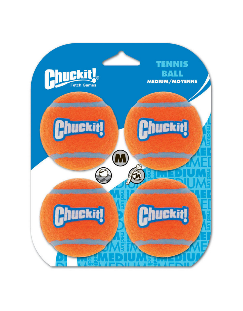 Chuckit! Tennis Ball Medium (4 pk)