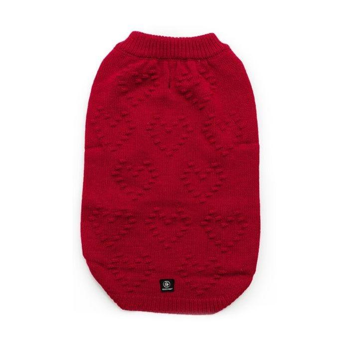 Silver Paw Silver Paw Pom Pom Heart Sweater