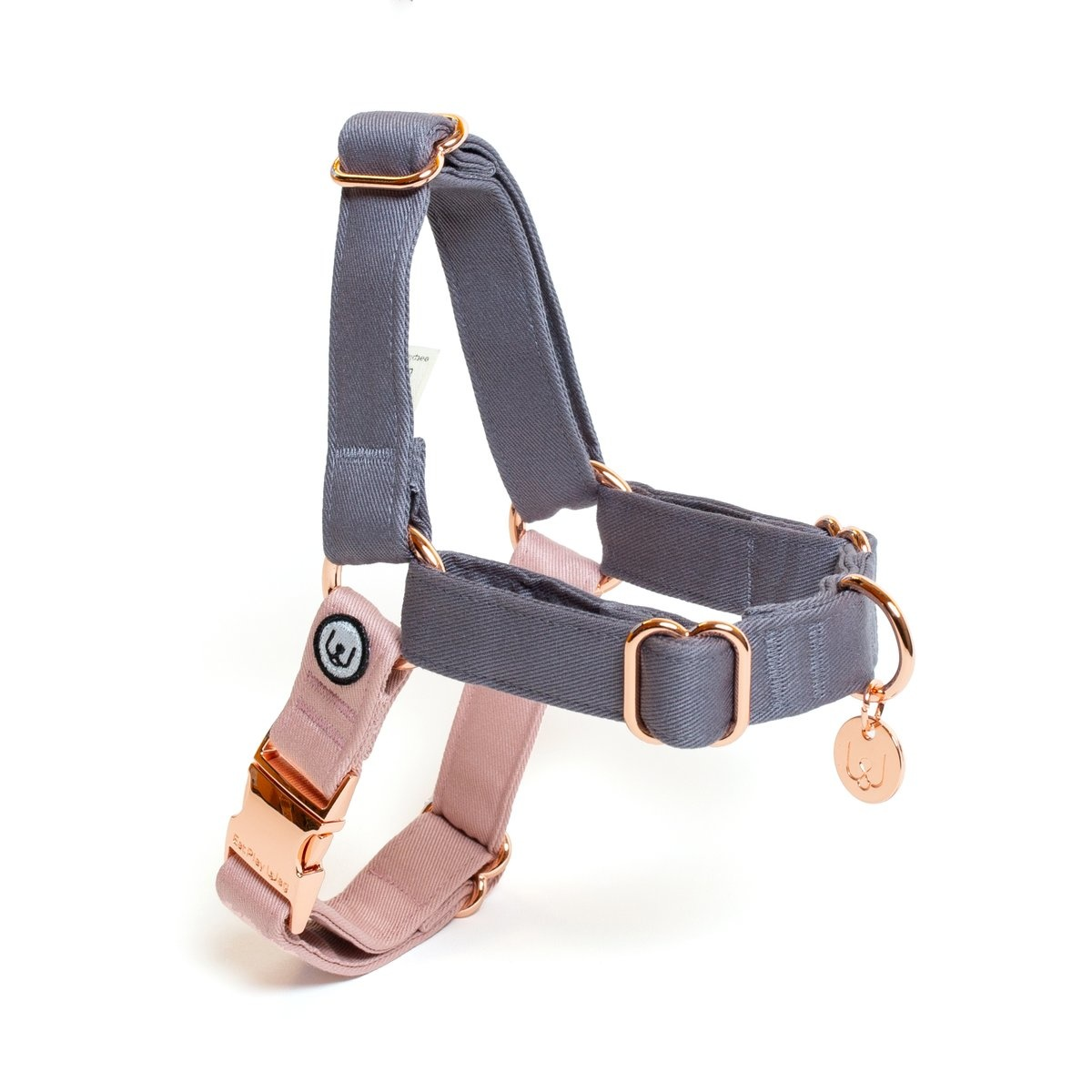 Eat Play Wag Eat Play Wag - Gray-Rose No-Pull Harness