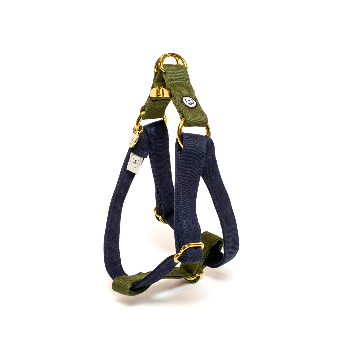 Eat Play Wag Eat Play Wag - Navy Olive Step-In Harness