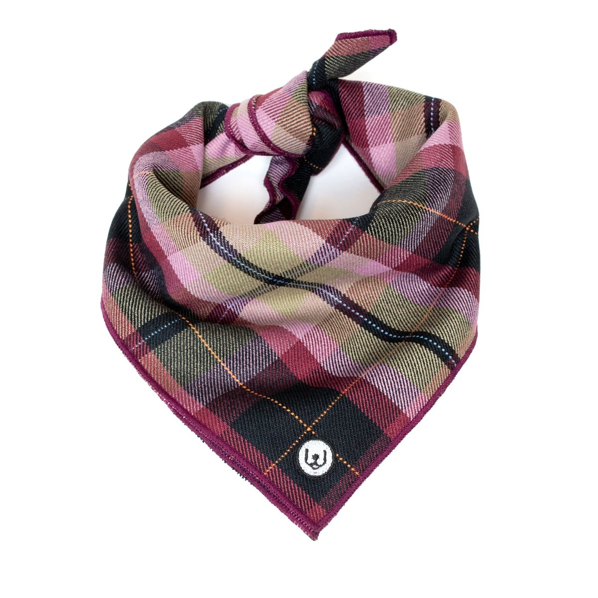 Eat Play Wag Eat Play Wag - Plum Plaid Neckerchief