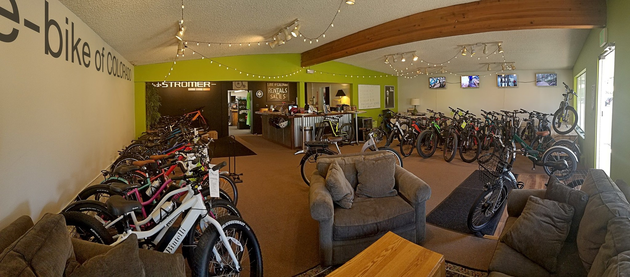 Interior of e-bike of Colorado