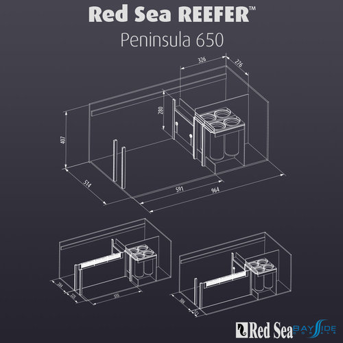 Red Sea Red Sea REEFER 650 Peninsula | Black