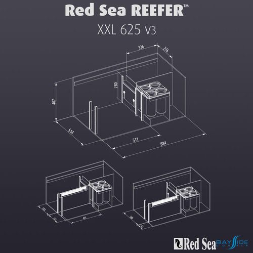 Red Sea Red Sea REEFER 625 XXL | Black