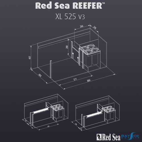 Red Sea Red Sea REEFER 525 XL | White