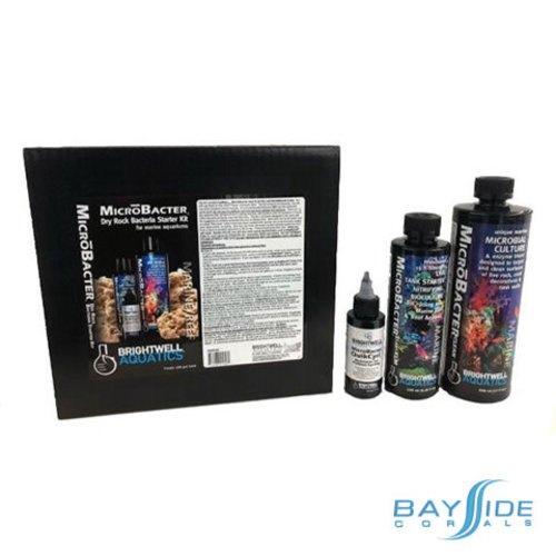 Brightwell Aquatics MicroBacter Dry Rock Bacteria Starter Kit
