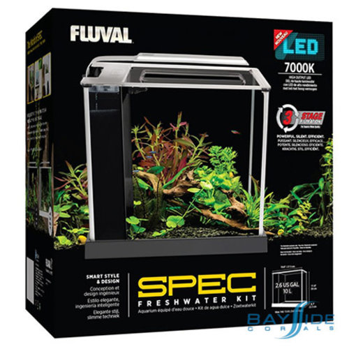 Fluval Spec III Black Glass Aquarium | 2.6 Gal