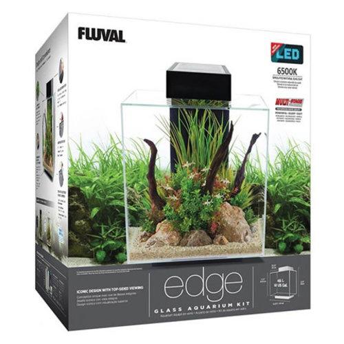 Fluval Edge 2.0 Aquarium Black | 12 Gal