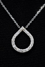 Nobles Metales Teardrop Diamond Necklace