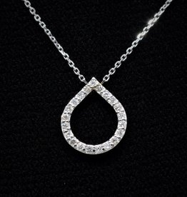 Nobles Metales Teardrop Diamond Necklace