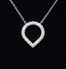 Nobles Metales Inverted Teardop Diamond Necklace