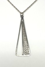 Nobles Metales Silver Triangle Necklace