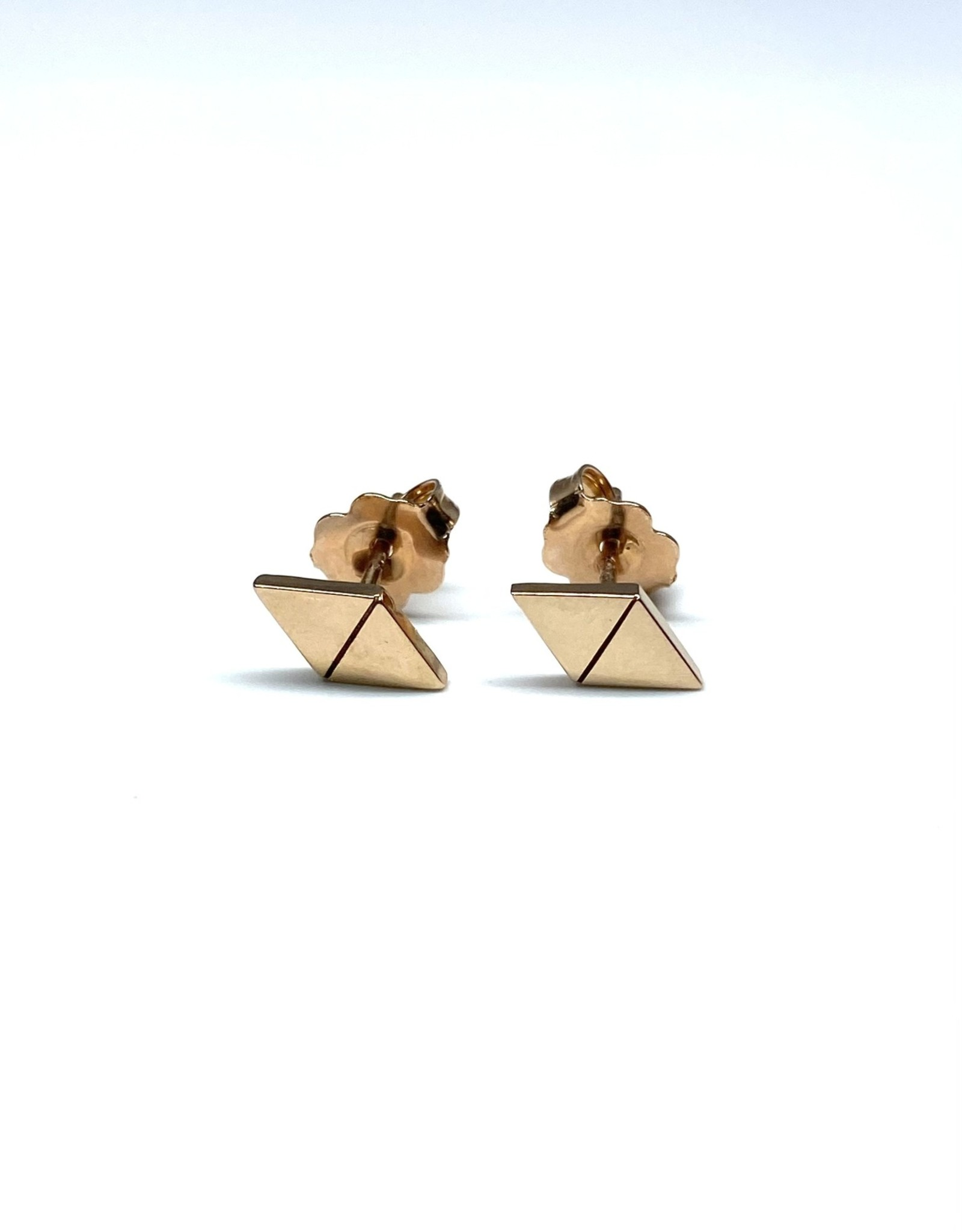 Nobles Metales Rose Gold Triangles Studs