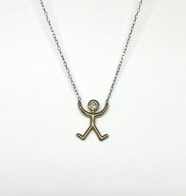 Nobles Metales Mountain Yoga Pose YG Necklace