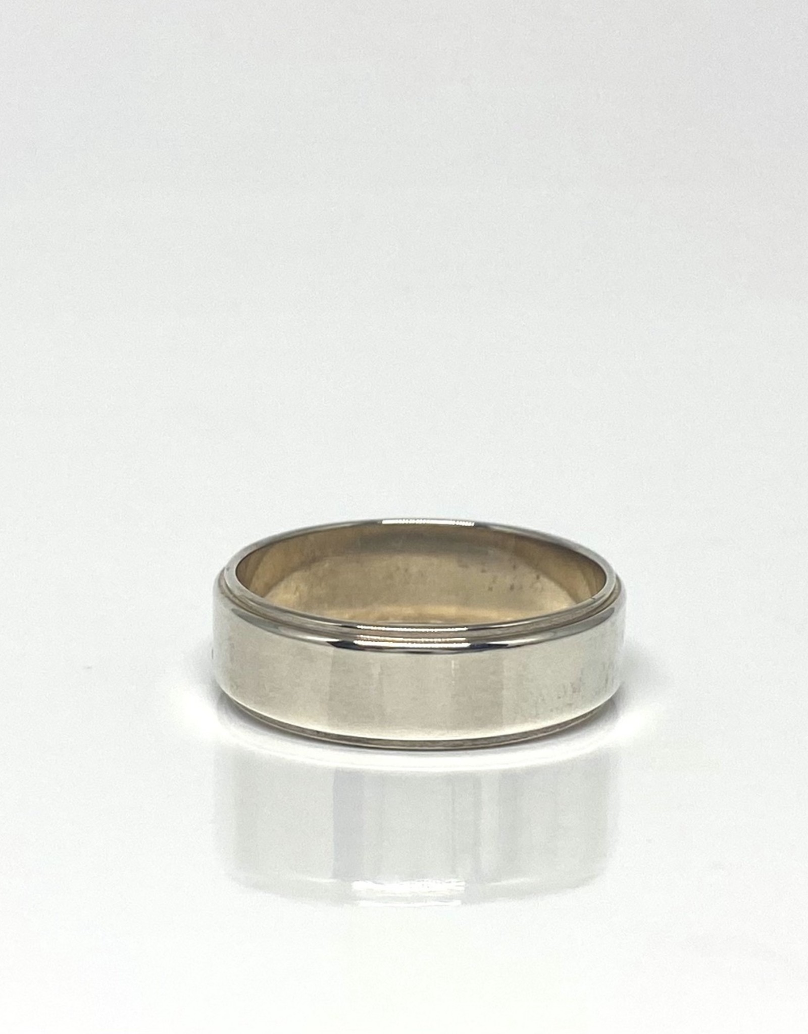 Nobles Metales Beveled Silver Band