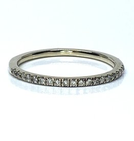 Nobles Metales Stackable Band White Gold
