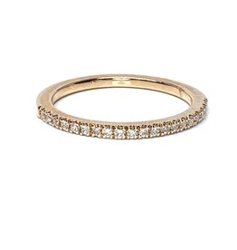 Nobles Metales Stackable Rose Gold Band with Diamonds