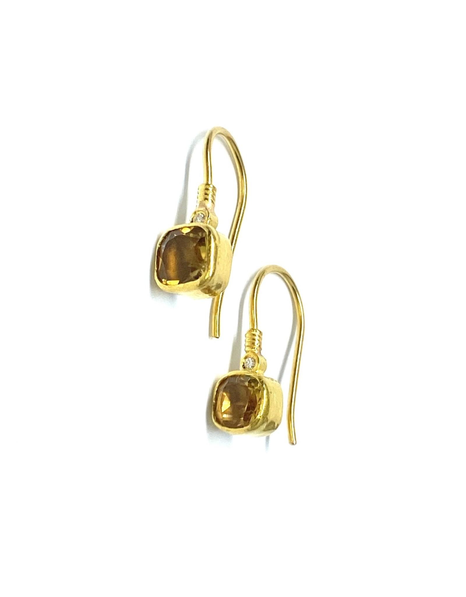 Prehistoric Works 14K Citrine Earrings