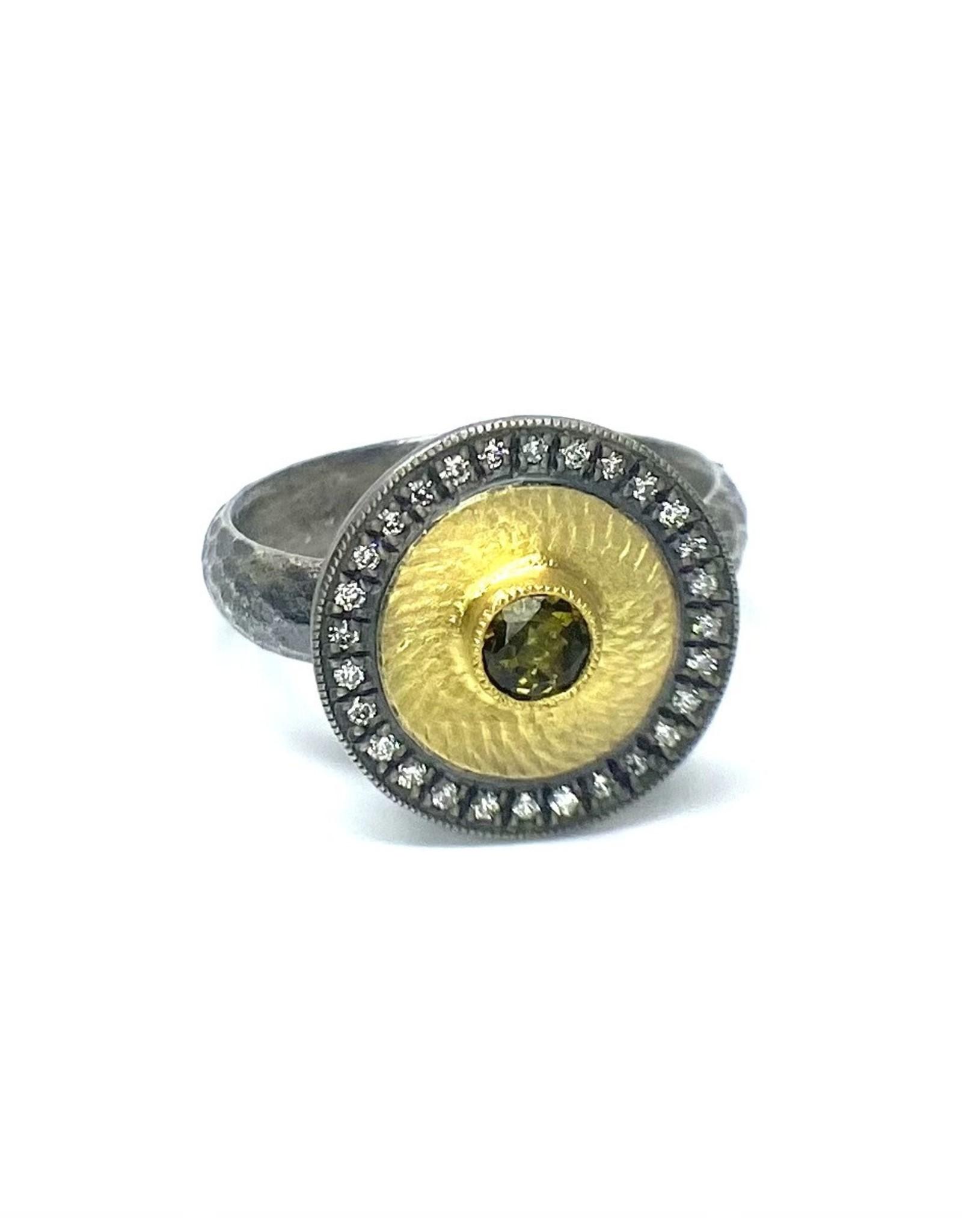 Prehistoric Works Studded Disk Ring