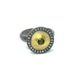 Prehistoric Works Gold Disk Ring