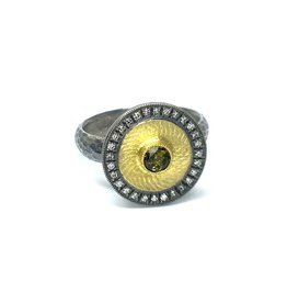 Prehistoric Works Studded Disk Ring