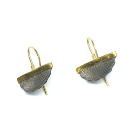 Prehistoric Works 14K Fan Earrings