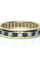 Nobles Metales Anniversary Sapphire and Diamond Ring