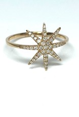 Nobles Metales 14K North Star Diamond Ring