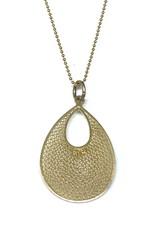Nobles Metales 18K Woven Teardrop Necklace