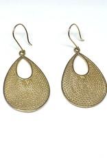 Nobles Metales 14K Woven Teardrop Earrings
