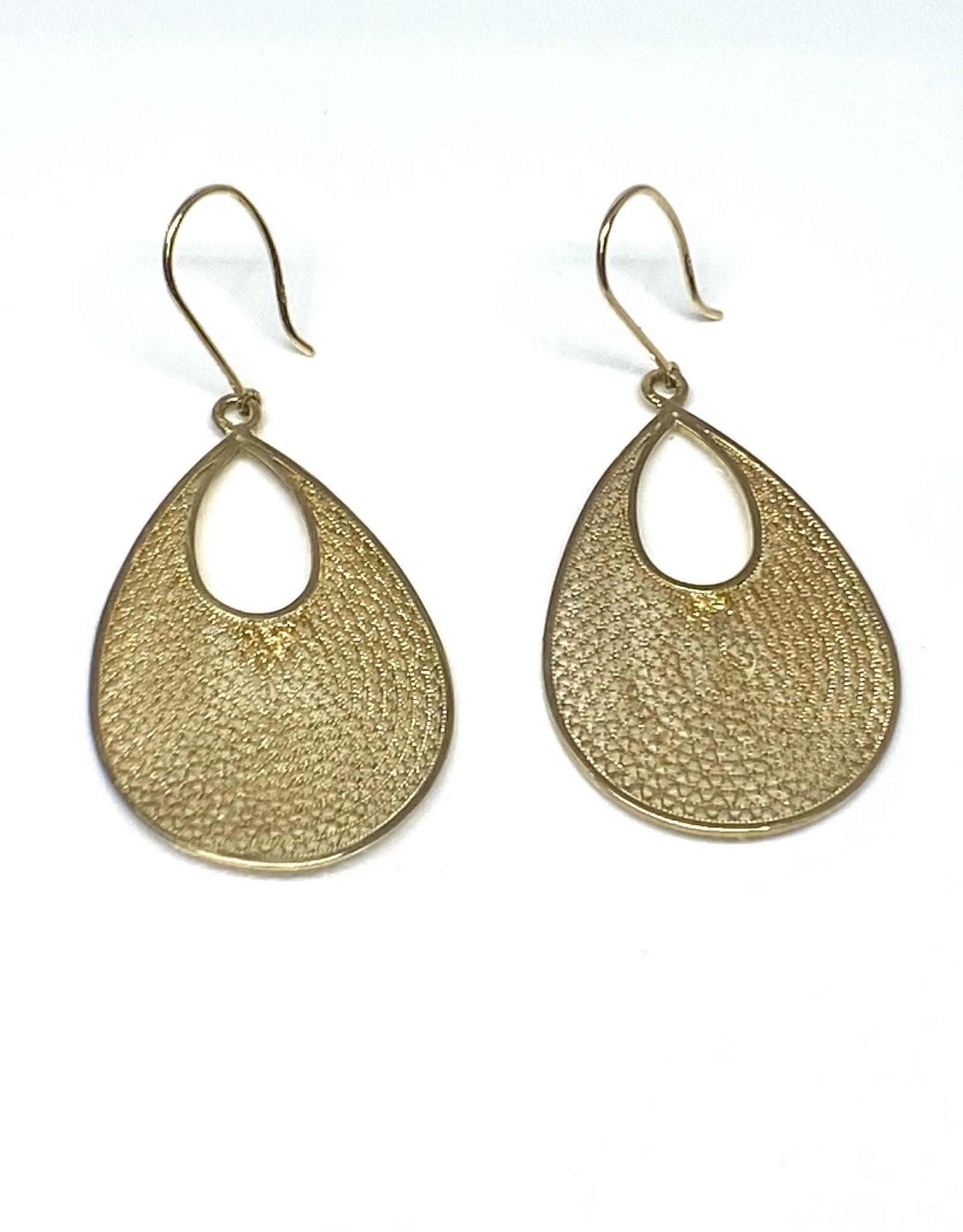 Nobles Metales 18K Woven Teardrop Earrings