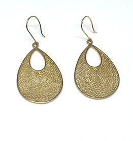 Nobles Metales 18K Woven Teardrop Earrings