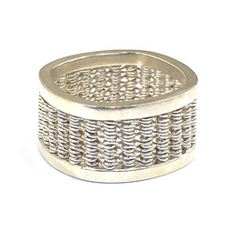 Nobles Metales Silver Woven Band