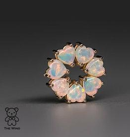 The Wind Opal 14K Flower Australian Solid Opal Pendant