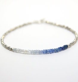 Mined and Found Kenzie Bar Ombre Sapphire Bracelet
