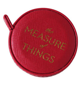 """Sloane Stationery ltd Red Vegan Leather Covered Measuring Tape """"the Measure of Things"""""""