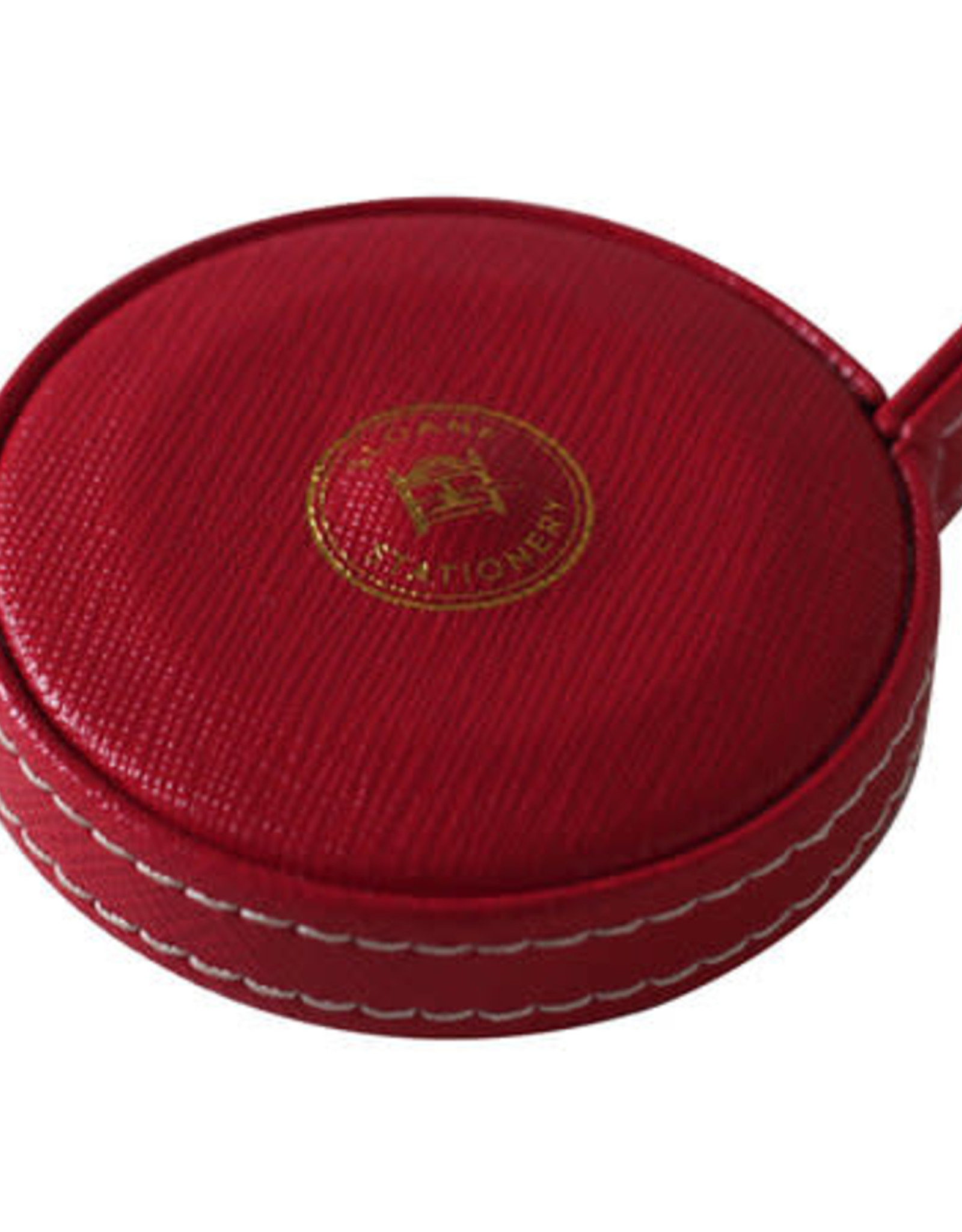 "Sloane Stationery ltd Red Vegan Leather Covered Measuring Tape ""the Measure of Things"""