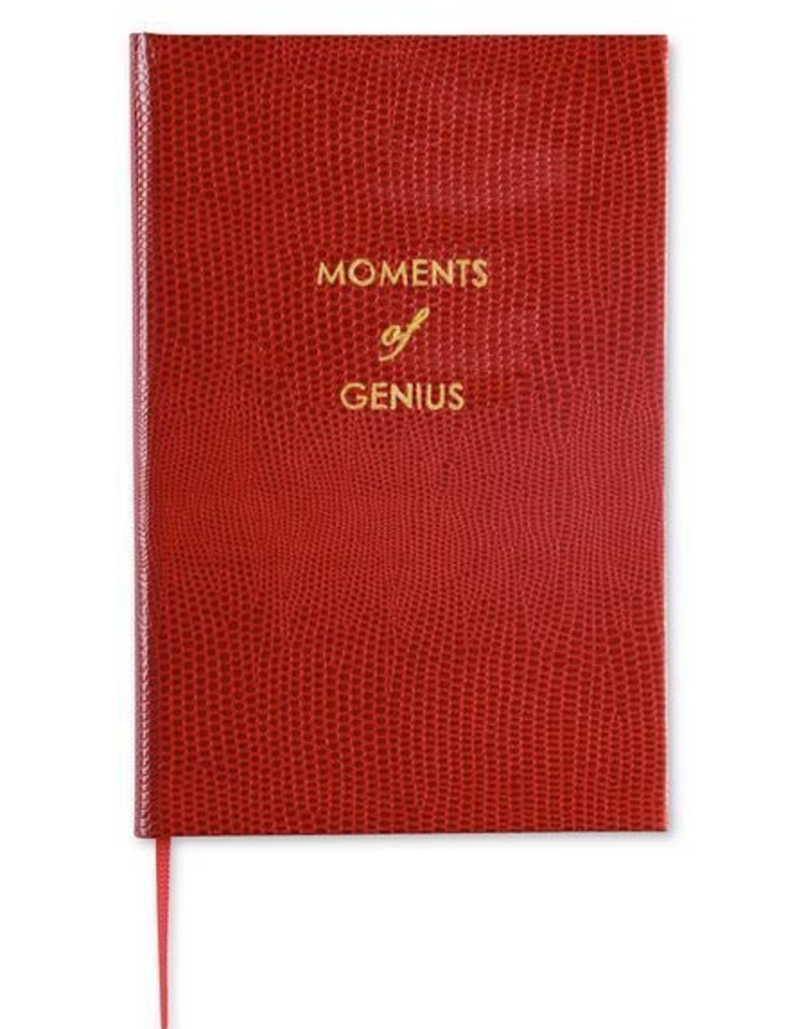 "Sloane Stationery ltd Pocket notebook ""Moments of Genius"" Deep Red"