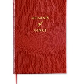 """Sloane Stationery ltd Pocket notebook """"Moments of Genius"""" Deep Red"""
