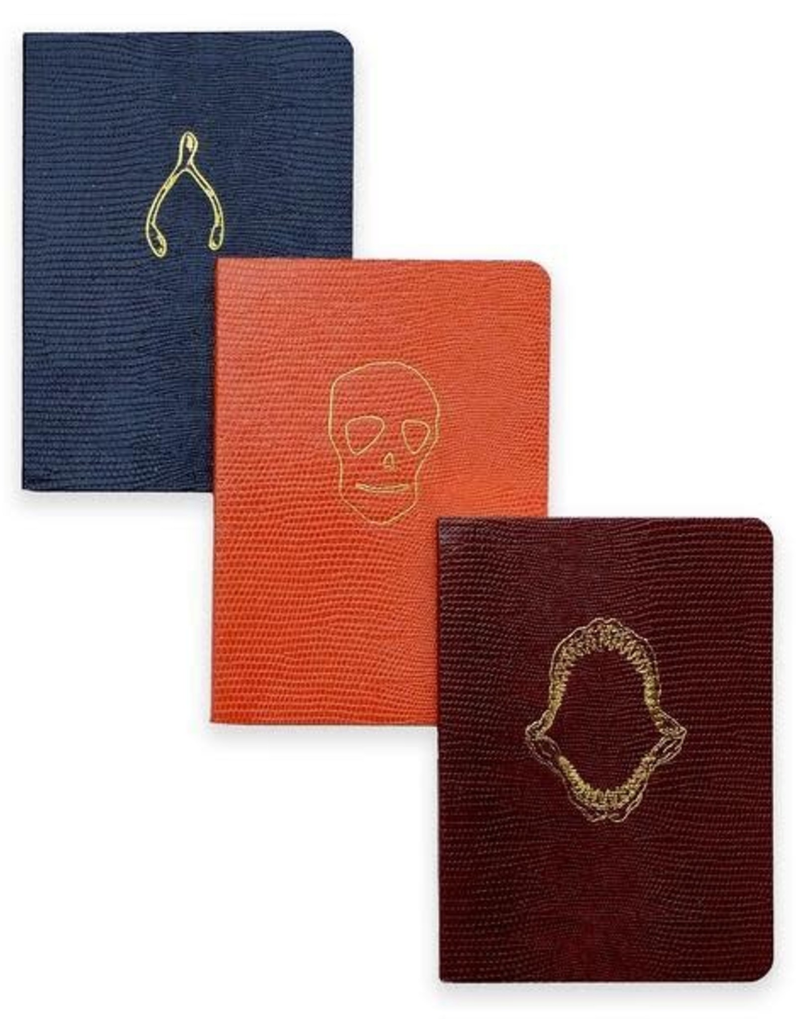 Sloane Stationery ltd Pocket notebook softcover Wishbone symbol Navy