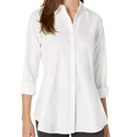 Foxcroft Foxcroft Harlow Non-Iron Fitted Pinpoint Tunic