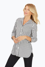Foxcroft Foxcroft Pandora Stretch Non-Iron Essential Stripe Tunic